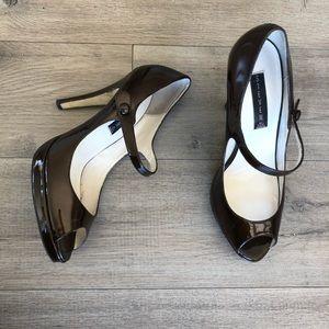 STEVEN by STEVE MADDEN ~ Brytn brown patent heels